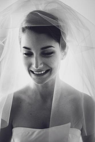 Le sourire de la mariée