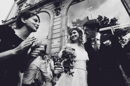 Les félicitations aux mariés