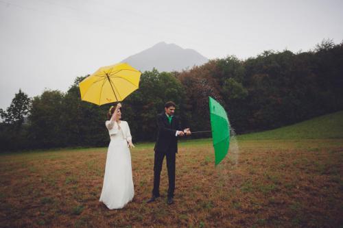 Mariage pluvieux, mariage heureux. (plus vieux, je sais)