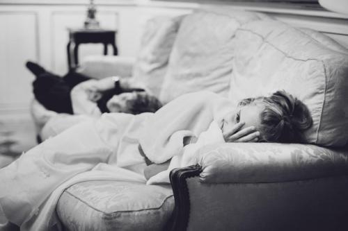 Enfants d'honneur fatigués